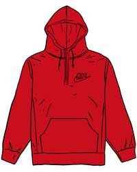 Supreme - Nike Half Zip Hooded Sweatshirt - Lyst