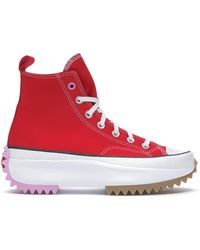 Converse - Red Run Star Hike Sneakers - Lyst