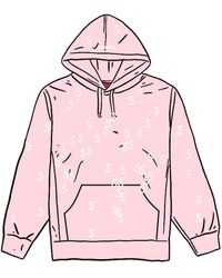 Supreme Embroidered S Hooded Sweatshirt - ピンク