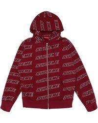 Supreme Repeat Zip Up Hooded Sweatshirt - レッド