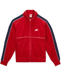 Supreme Nike Velour Track Jacket - レッド