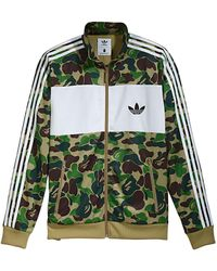 A Bathing Ape X Adidas Abc Camo Track Jacket - グリーン