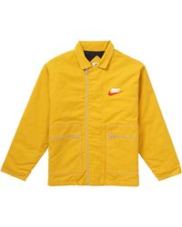 Supreme Nike Double Zip Quilted Work Jacket - イエロー