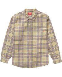 Supreme - Printed Plaid Shirt - Lyst