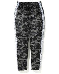 A Bathing Ape Abc Sta Tape Jersey Pants - Black