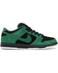 Nike - Sb Dunk Low Black Pine Green - Lyst