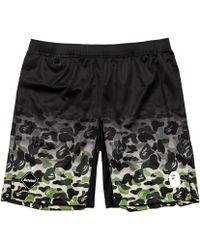 f95cb45c Lyst - A Bathing Ape Sakura Sweat Shorts Black in Black for Men