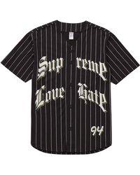 Supreme - Love Hate Baseball Jersey - Lyst