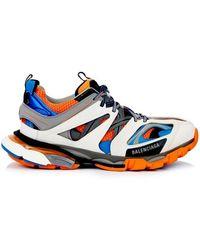 Balenciaga - Track Orange Blue - Lyst
