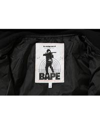 A Bathing Ape 1st Camo Quilting Hoodie Jacket - イエロー