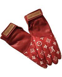 Supreme X Louis Vuitton Baseball Gloves - レッド