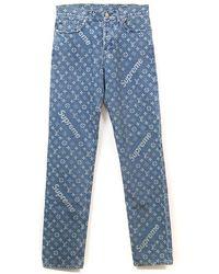 Supreme X Louis Vuitton Jacquard Denim 5-pocket Jean - Blue