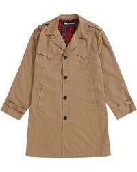Supreme D-ring Trench Coat - Brown