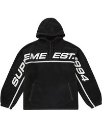 Supreme - Polartec Half Zip Hooded Sweatshirt - Lyst