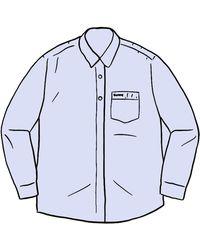 Supreme Stripe Oxford Shirt - ブルー
