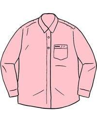 Supreme Stripe Oxford Shirt - レッド