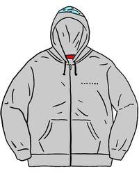 Supreme Globe Zip Up Hooded Sweatshirt - グレー