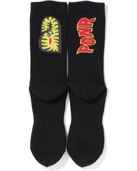 A Bathing Ape 2nd Shark Socks - Black