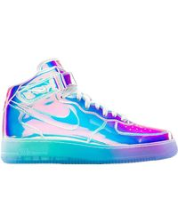 Nike Air Force 1 Mid Iridescent ( Id) - Blue