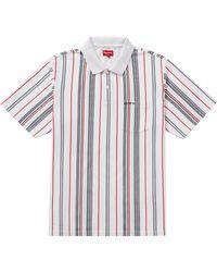 Supreme Vertical Stripe Polo - White