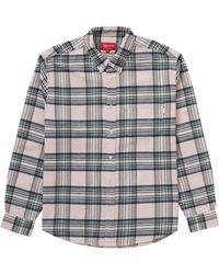 Supreme Tartan Flannel Shirt - Gray