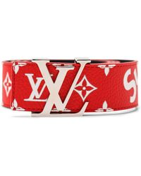 Supreme Louis Vuitton X Initiales Belt 40 Mm Monogram Red