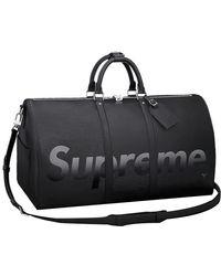 Supreme Louis Vuitton X Keepall Bandouliere Epi 55 - Black