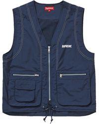 Supreme Nylon Cargo Vest - Blue