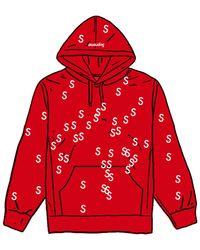 Supreme Embroidered S Hooded Sweatshirt - レッド