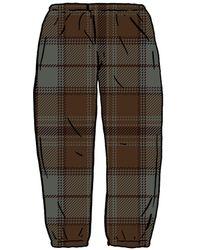 Supreme Tartan Flannel Skate Pant - ブラック