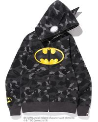 A Bathing Ape X Dc Batman Color Camo Full Zip Hoodie #1 - Black