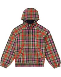 720ac1f9b72527 Supreme - Gore-tex Hooded Harrington Jacket Olive Plaid - Lyst. Supreme -  Nylon Packable Poncho Red ...