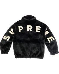 Supreme Faux Fur Bomber Jacket - ブラック