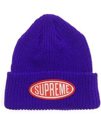 Supreme - Oval Patch Beanie - Lyst