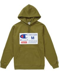 Supreme Champion Label Hooded Sweatshirt - グリーン