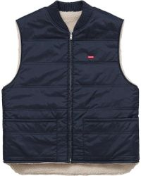 Supreme Sherpa Fleece Reversible Work Vest Navy - Blue