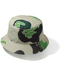 A Bathing Ape Def Camo Bucket Hat - ナチュラル