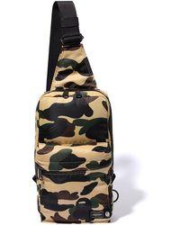 5dc6b889 Porter A Bathing Ape X Porter 1st Camo Waist Bag in Green for Men - Lyst