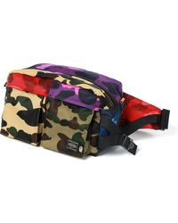 A Bathing Ape X Porter Mix Camo Waist Bag - Multicolor