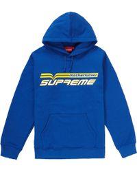 b3b1966a Supreme Trademark Hooded Sweatshirt Bright Royal in Blue for Men - Lyst