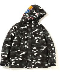 58696d44 A Bathing Ape Happy New Year Snowboard Jacket Black in Black for Men ...