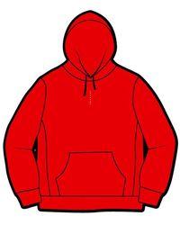 Supreme Micro Logo Hooded Sweatshirt - レッド