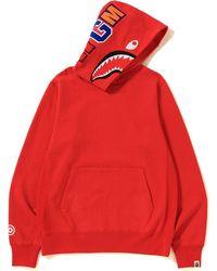 09d0c8c7 A Bathing Ape X Xo Shark Pullover Hoodie Orange in Orange for Men - Lyst