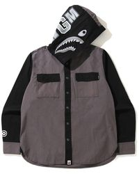A Bathing Ape - Shark Hoodie Shirt - Lyst
