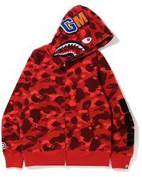 A Bathing Ape - Color Camo Detachable Shark Full Zip Hoodie - Lyst