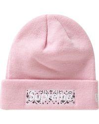Supreme New Era Box Logo Beanie (fw19) - Pink