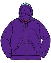 Supreme Globe Zip Up Hooded Sweatshirt - パープル