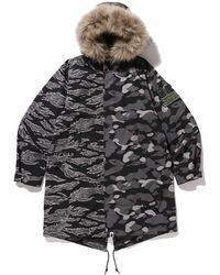 A Bathing Ape X Undefeated M-51 Hoodie Jacket - ブラック