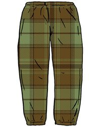 Supreme Tartan Flannel Skate Pant - グリーン