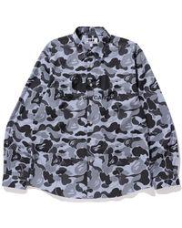 A Bathing Ape X Cdg Osaka Shirt #1 - ブルー